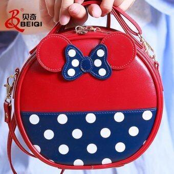 nightberry กระเป๋าสะพายข้างสีแดง - nightberry0656