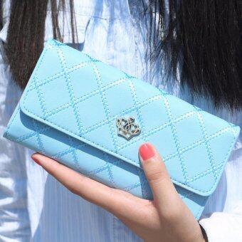 Nitta Bag กระเป๋าสตางค์ กระเป๋าเงิน กระเป๋าใส่เหรียญ Wallet รุ่น NT-139(สีฟ้า)