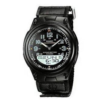 Casio Standard นาฬิกาข้อมือผู้ชาย สีดำ สายเรซิ่น รุ่น AW80V-1B