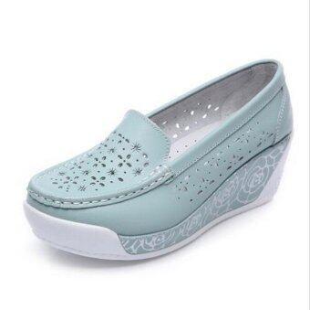 รองเท้าแฟชั่นสตรีเหล็ก ZYSK 2559 (สีน้ำเงิน) Z061801