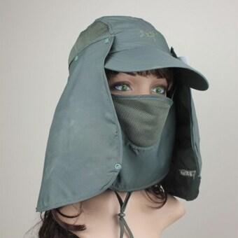 กีฬากลางแจ้งหมวกเดินป่าเพศการป้องกันยูวีประมงหน้ากัปตันหนุ่มซันคอพับ