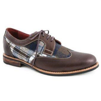 Tramper shoes S10 น้ำตาลสก็อต )