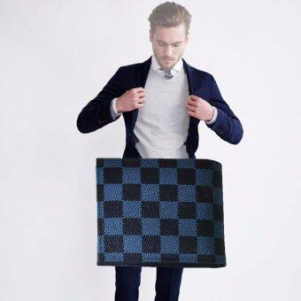 Nuchon Bag Damier กระเป๋าเงิน กระเป๋าหนัง กระเป๋าสตางค์ ผู้ชาย รุ่น MenBagDamier/Black