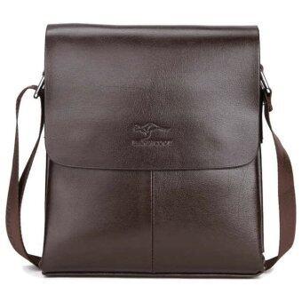 Leather Linc กระเป๋าสะพายผู้ชายหนังแท้ รุ่น K505-M(สีน้ำตาลเข้ม)