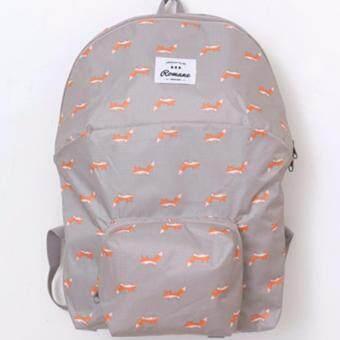 Nitta Bag กระเป๋าผ้า กระเป๋าสะพายหลัง กระเป๋าจัดเก็บสำภาระ รุ่น NT-071 (สีเทา-ส้ม)