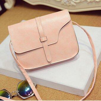 Bag Fashion กระเป๋าสะพายพาดลำตัว กระเป๋าหนังแฟชั่นจิ๋ว รุ่น1105 (สีครีม)