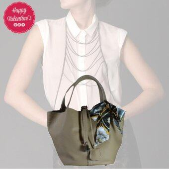Nuchon Bag กระเป๋าสะพายแขน กระเป๋าถือ รุ่น Hermes Picotin Lock Bag Elephant Gray