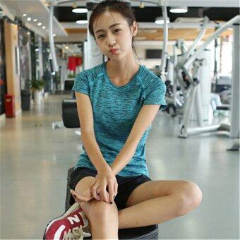SPORT ชุดออกกำลังกาย โยคะ Indoor Exercise Clothing แพ็คคู่ 3 ชุด- Blue (สปอร์ตบรา+กางเกงสำหรับออกกำลังกาย+sport clothing) (image 1)