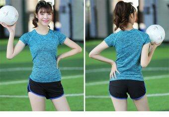SPORT ชุดออกกำลังกาย โยคะ Indoor Exercise Clothing แพ็คคู่ 3 ชุด- Blue (สปอร์ตบรา+กางเกงสำหรับออกกำลังกาย+sport clothing) (image 2)