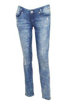 EAY JEANS กางเกงขายาวยีนส์ยืด jea-la2A11bl สีกรมฟอก