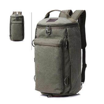 Bag Gammon กระเป๋าสะพาย กระเป๋าเป้ แคนวาส 3in1 (เขียว)
