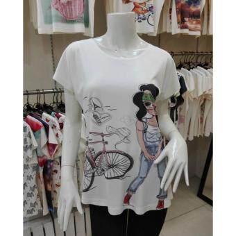 November T Shirts เสื้อยืดฟรีไซส์ เสื้อผู้หญิงสรีนลายน่ารัก รหัส L100 a40