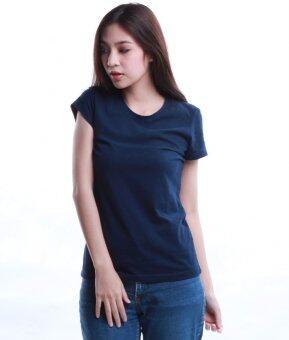 SimpleArea Premium cotton T-shirts เสื้อยืดคอกลม - Navy