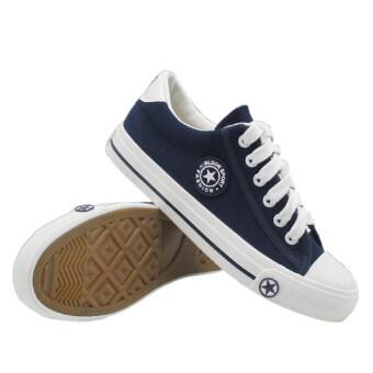Alisa Shoes รองเท้าผ้าใบแฟชั่น รุ่น9108 Navy