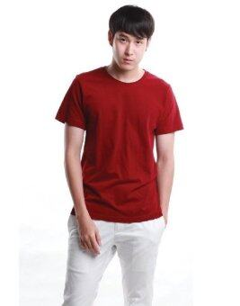 SimpleArea Premium cotton T-shirts เสื้อยืดคอกลม - Dark Red