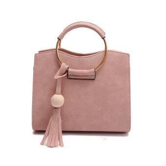 Handbag Pink กระเป๋าถือ พร้อมสายสะพาย สีชมพู