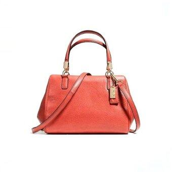 Coach Madison Leather Mini Satchel Bag รุ่น 49720 - Vermillion