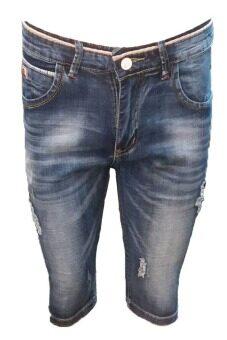 EAY JEANS กางเกงขาสั้นยีนส์ ผ้ายืด short806bl สียีนส์ฟอก