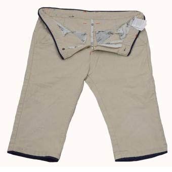 EAY กางเกงขาสั้น ผ้ายืด short3823-1w สีขาวครีมฟอก