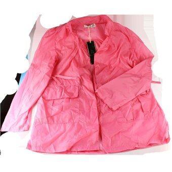 เสื้อคลุมกันแดดและฝนเวลาขับขี่มอเตอร์ไซค์ ไซส์ L (สีชมพู)