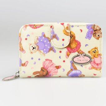 Janelily กระเป๋าสตางค์ รุ่น JW010-A26 หมีบัลเลต์ครีม