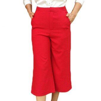 กางเกงสี่ส่วน (สีแดง)