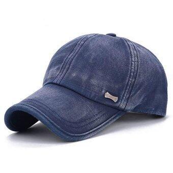 ผู้หญิงธรรมดาคนสวมหมวกเบสบอลนิยมปรับได้กีฬา Snapback ฮิพฮอพหาด (สีน้ำเงิน)-ระหว่างประเทศ