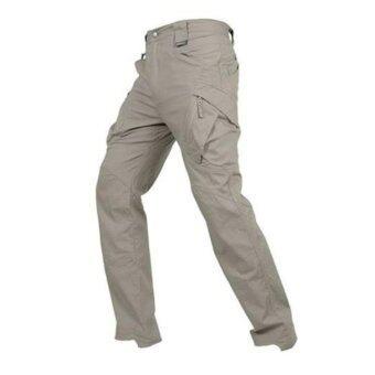 กางเกงขายาว กันน้ำ เบา ไม่ต้องรีด รุ่น IX11 - สีกากี