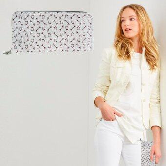 Nuchon Bag กระเป๋าใส่ตังสตางค์ มือถือ Iphone 6 Plu Size L (Vanessa/White)