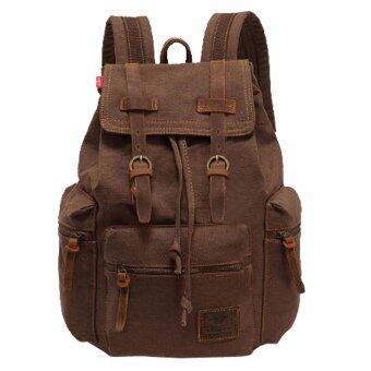 niceEshop Daypack สบายกระเป๋าเป้กระเป๋าผ้าใบสำหรับผู้หญิงผู้ชาย (กาแฟ)