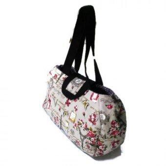 PetJa Vintage กระเป๋าสะพายไหล่มีผ้าปิดแนววินเทจ สีกะปิ