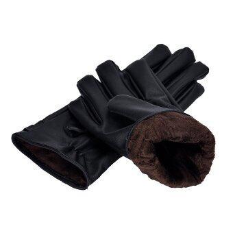 กีฬากลางแจ้งทั้งหน้าจอสัมผัสอากาศหนาวถุงมือสีดำ