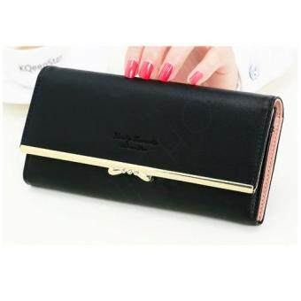 Nuchon Bag กระเป๋าสตางค์ ใส่มือถือ Lovely Romantic Smart Wallet Iphone 6S Size M ( Black/Night )