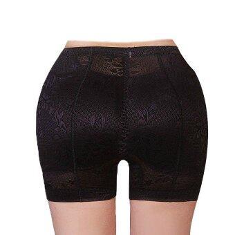 Hotdeal Shipping Seamless Bottoms Up Underwear กางเกงชั้นในลายลูกไม้ เสริมบั้นท้าย - สีดำ (image 0)