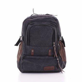 Bag Gammon กระเป๋าเป้แคนวาส (สีดำ)