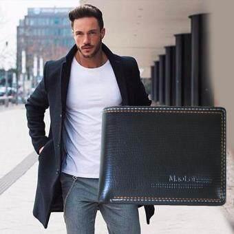 Nuchon Bag MaoLeir กระเป๋าเงิน กระเป๋าหนัง กระเป๋าสตางค์ ผู้ชาย รุ่น MenBag-MaoLei/Black