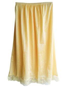 กระโปรงชั้นใน Petticoat รุ่น SAN ผ้าไนลอน สีครีม