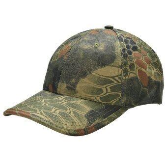 หมวกลายพรางทหารทหารกองประมงจับปรับได้หมวกเบสบอลสีเขียว