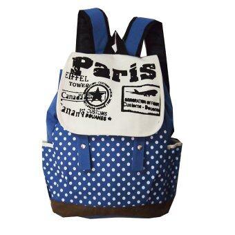 กระเป๋าเป้ลายปารีส (สีน้ำฟ้า)