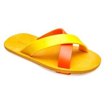 blackOut รองเท้าแตะ BO-1001 สีส้ม-เหลือง