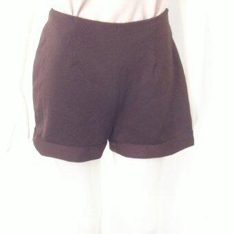 กางเกงผ้ายืดสีน้ำตาล