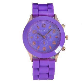 Geneva นาฬิกาข้อมือผู้หญิง สีม่วง สายยาง รุ่น GE546 Purple (image 1)