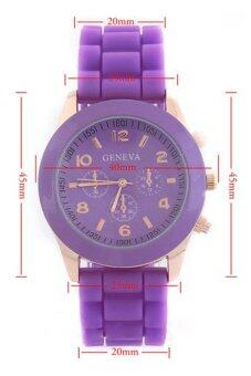 Geneva นาฬิกาข้อมือผู้หญิง สีม่วง สายยาง รุ่น GE546 Purple (image 4)
