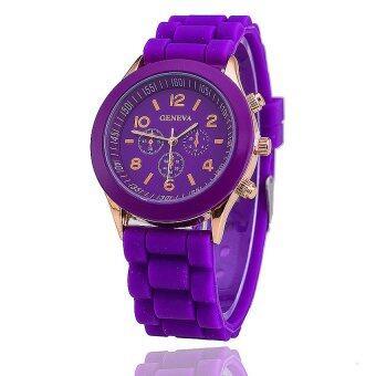 Geneva นาฬิกาข้อมือผู้หญิง สีม่วง สายยาง รุ่น GE546 Purple (image 2)