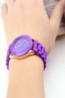 Geneva นาฬิกาข้อมือผู้หญิง สีม่วง สายยาง รุ่น GE546 Purple (image 3)