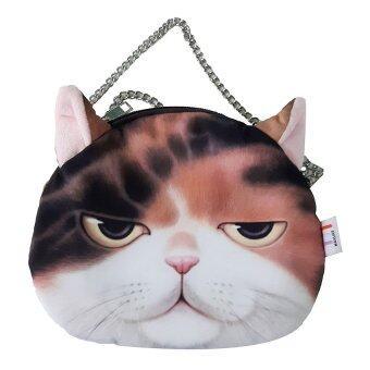 กระเป๋าแมวสายโซ่หน้าสามสี