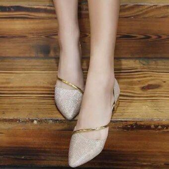 JOY Flat Bottom Female Single Shoes (Glod) - Intl - Intl