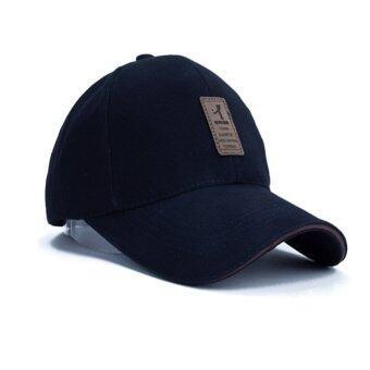นิวแฟชั่นหมวกเบสบอลกีฬา 2559 เพศ Snapback กอล์ฟหมวกแข็งสำหรับคนกระดูก (สีกรมท่า)