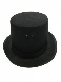 MIRAGE-SHOP หมวก TOPHAT ทรงมายากล - สีดำ