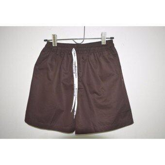 กางเกงขาสั้นสีพื้น(น้ำตาลเข้ม)